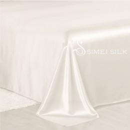 Silk Flat Sheet single size Eggplant