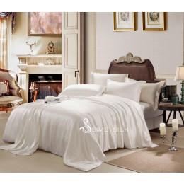 silk bedding sets ( 4pcs king size, snow white)