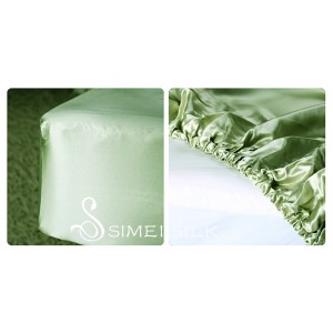 Silk Fitted Sheet, double size (Jade)