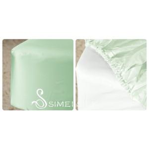 Silk Fitted Sheet, 120*200cm (light green)