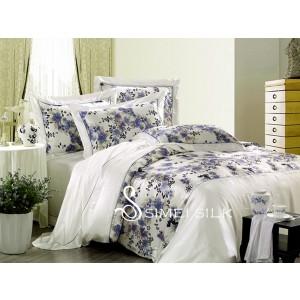 silk bedding sets ( 3pcs, single size,Orchid )
