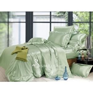 silk bedding sets ( 5pcs, king size, jade )