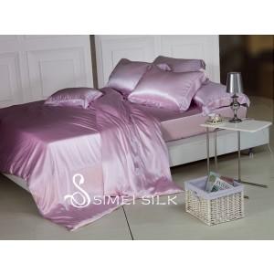 silk bedding sets ( 4pcs, Queen size, malva )