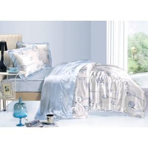 silk bedding sets ( 3pcs, single size,Tulip )