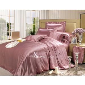 silk bedding sets ( 4pcs, king size, rose )
