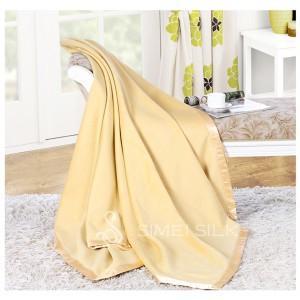 Silk Fleece Blanket Wheat