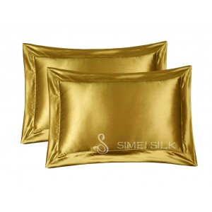 Silk Pillowcase Queen Size golden