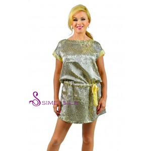 Silk charmeuse nightwear, short gown