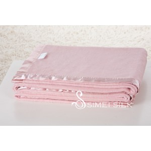 Silk Fleece Blanket Cherry Flower