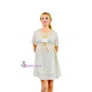 Ladies' silk dress, ivory