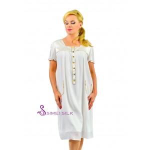 Ladies' silk nightwear, color:  white.