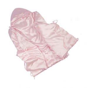 Silk sleeping bag for newborn babies Pink