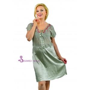 Naisten silkkiyö- ja oloasu, Väri: Vihrea (pitsi)