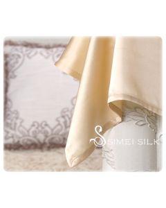 Silk Flat Sheet single size Champagne