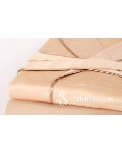 Silk Fleece robe (light camel)