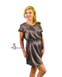 Silk charmeuse nightwear, short gown