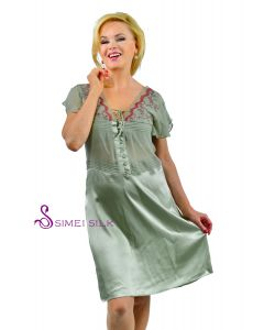 Naisten silkkialuspaita -vihreä
